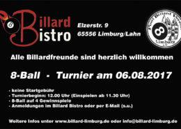 8Ball Jedermann Turnier 06.08.2017