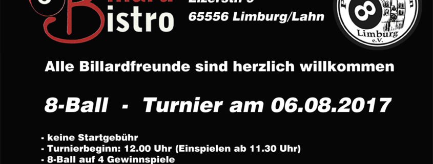 8Ball Jedermann Turnier 06.08.2017